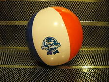 PBR PABST BLUE RIBBON Beer ~ NEW ~ PROMO Beach Ball w FREE Sticker