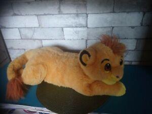 Peluche range pyjama Simba le roi lion Disney 50 cm vintage