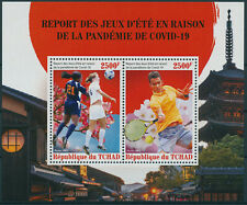 More details for chad 2021 mnh olympics stamps tokyo 2020 corona tennis football tennis 2v m/s