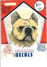 Vintage NOS FRENCH BULLDOG Transparent Sticker Decal Larklain Products dog