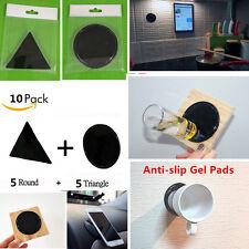 10Pack Fixate Gel Pads Wall Glue Sticker Phone Sticky Mat Tablet Sat Nav Gadget