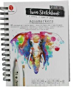 Twin Skizzenbuch A5 60 Blatt Skizzen 2 Papiersorten Block Sketchbook Zeichnen