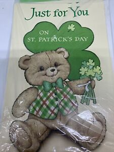 St. Patrick's Teddy Bear  Clovers Cards Sealed set 6