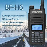 UK STOCK Baofeng BF-H6 VHF/UHF Amateur Radio - 10w 2200mah battery + case