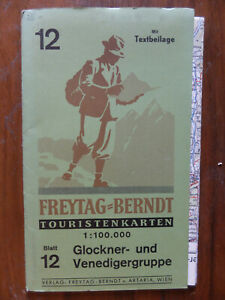Freytag Berndt map Austrian Alps Glockner Venedigergruppe 1950s?