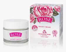Moisturise Night face cream ROSE with Bulgarian Rose oil, rose water