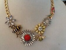 "M Haskell  Necklace - Bumblebees, Parrot And Flowers Approx.20"". MH5"