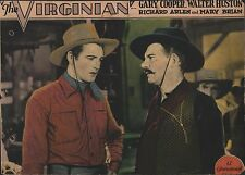 GARY COOPER & WALTER HUSTON in ''The Virginian'' Orig. COLOR LOBBY CARD 1929