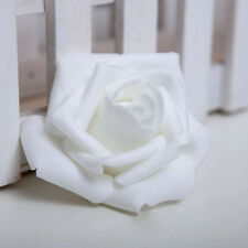 10PC Foam Rose Head White Color Artificial Flowers Handmade Home Party Décor