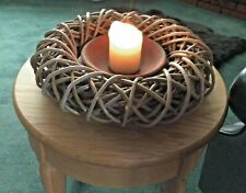 Natural Willow Hanging Ring Christma Festive Mesh Wicker Wreath Decoration 310mm
