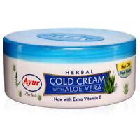 Ayur Herbal Cold Cream With Aloe Vera Extra Vitamin E - 200 ml free shipping