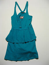 Volcom Womens Sundress S Casual Layered Turquoise Teal Swimsuit Coverup Beach