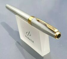 PARKER SONNET 1992 STERLING SILVER FOUGERE ROLLERBALL Blue Refill
