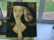 Designer Rare Beautiful Oil On Canvas Painting Women Picasso Home Apartment