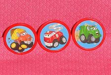 Chuck Tonka Truck, Cupcake and Party Favor Rings, 12 count, Plastic,Red, B/C
