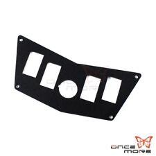 Aluminum 5 Hole Rocker Switch Plate Panel Black For Polaris RZR 800 900 XP 570