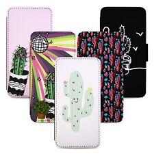 Cactus Plants Designs Flip Phone Case Cover Wallet - Fits Iphone 5 6 7 8 X 11