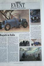 Bugatti Turin Museum article 1989 Scrapbook cutting epherma furniture etc Italia