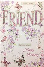 Special Friend Birthday Card ~ Super Luxury Card ~ Lovely Sentiment Verse
