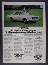 1975 Chevrolet Chevelle Malibu Classic vintage print Ad