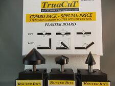 PLASTER BOARD. 90'135' 45' Router Bit SET (TPB9013545)