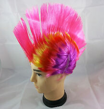 Pink Colour Punk Mohican Rocker Wigs Mohawk Wig Fancy Party Dress Costume Stag