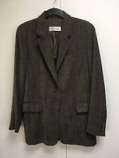 Vintage Max Mara tailored jacket wool blend blazer brown melange chenille 12