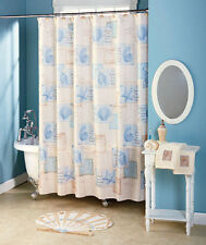 Sarasota Shower Curtain Tropical Nautical Seashell Bath Collection Rug Towels