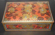 "circa 1900 VICTORIAN Art Nouveau Arts & Crafts tin 9"" Wide 6"" Tall 2-1/2"" Deep"