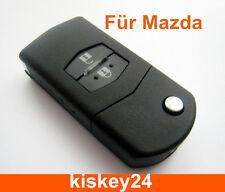 2Tasten Auto Klappschlüssel Gehäuse für Mazda 2 3 5 6 BT50 CX-5 CX-7 CX-9 RX8
