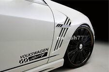 2 - VOLKSWAGEN RACING Sport Vinyl Decal sticker emblem logo BLACK
