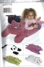 4224 Uncut Butterick Sewing Pattern Craft Pillow Pals Covers Cat Panda Alligator