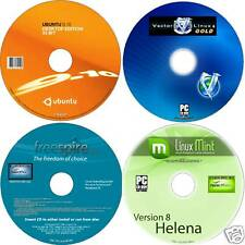 MINT FREESPIRE UBUNTU VECTOR 4 CD SET 2010 LINUX OS's SIMPLE EASY TO SETUP & USE