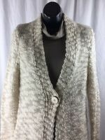 Pendleton Cardigan Womens Sz M Medium Chunky Knit Button Sweater Wool Mohair
