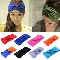 1pc Women Cotton Turban Twist Knot Head Wrap Headband Twisted Knotted Hair Band!