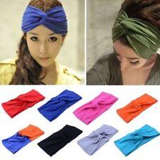 1 pc Women Cotton Turban Twist Knot Head Wrap Headband Twisted Knotted Hair Band