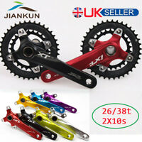 UK STOCK 7Colors Double 26/38T 104/64bcd Chainset Chainring 170mm Crank set BB