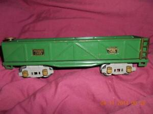 American Flyer Lines Green Sand Car Gondola Vintage Approx 1935 Nice Condition
