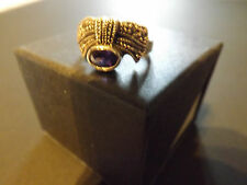 Donna Argento 925 Vintage Deco Marcasite & Ametista Ring (Size o)