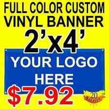 Full Color Custom Vinyl Banner 2'x4'