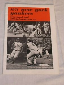 1971 New York Yankees Scorecard and Official Program Guide