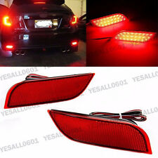 2x LED Rear Bumper Reflector Brake Fog Lights For Subaru Exiga Levorg WRX STI