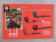 Alfred Dunhill Pipe CATALOG - 1962 ~~ pipes