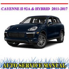 PORSCHE CAYENNE II 92A HYBRID 2011-2017 WORKSHOP SERVICE REPAIR MANUAL ~ DVD