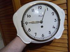 VINTAGE ART DECO CLOCK pendule horloge murale en faience 40's KIENZLE