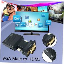 1080P VGA macho a hembra HDMI con sonido 3.5 mm Cable USB Convertidor Adaptador Adc