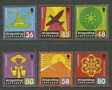 Guernsey 2010 Girl Guides 100th Anniversary--Attractive Topical (1086-91) MNH