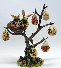 Harmony Kingdom Art Neil Eyre Designs Easter Bunny egg tree frog bird nest eggs