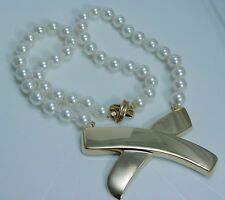 Tiffany 8mm Pearls Paloma Picasso Tiffany&Co Necklace Rare Vintage 14K Gold