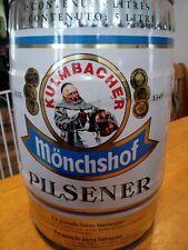 Vintage West Germany Kulmbacher Monchshof Pilsner 5 Liter Import Beer Can Empty